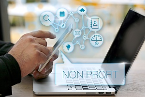 a person at a non profit using crm software for roi