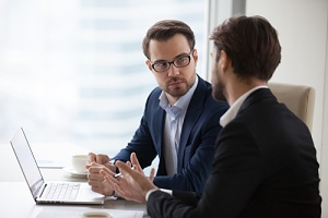 it coaching and mentoring between two men