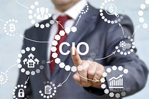 Person who is a CIO with functions drawn on screen