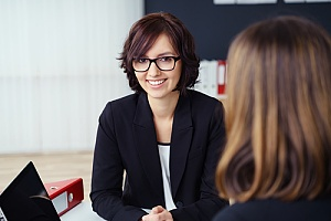 Female employee in meeting