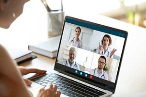 Healthcare providers using telehealth services to improve workflow