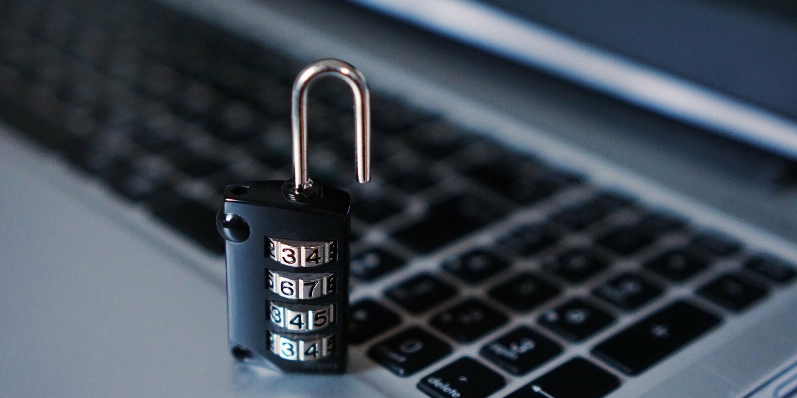 lock on a laptop representing cybersecurity awareness in a business