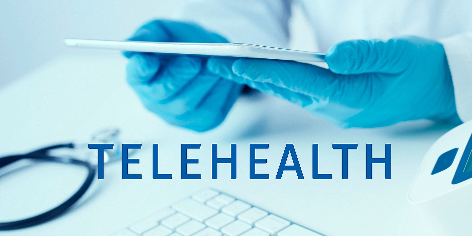 A Telehealth healthcare provider virtually offering services to patients through video chat
