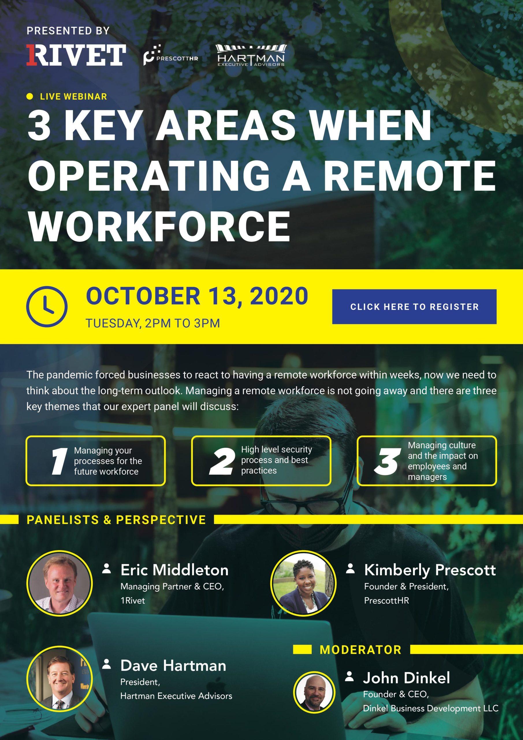 Hartman remote workforce webinar flyer