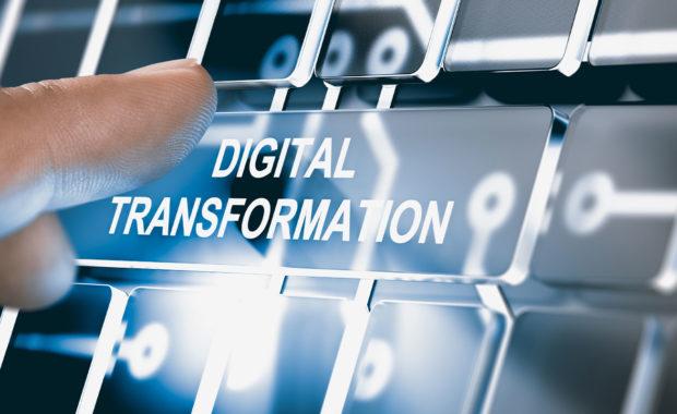 digital transformation on a key board