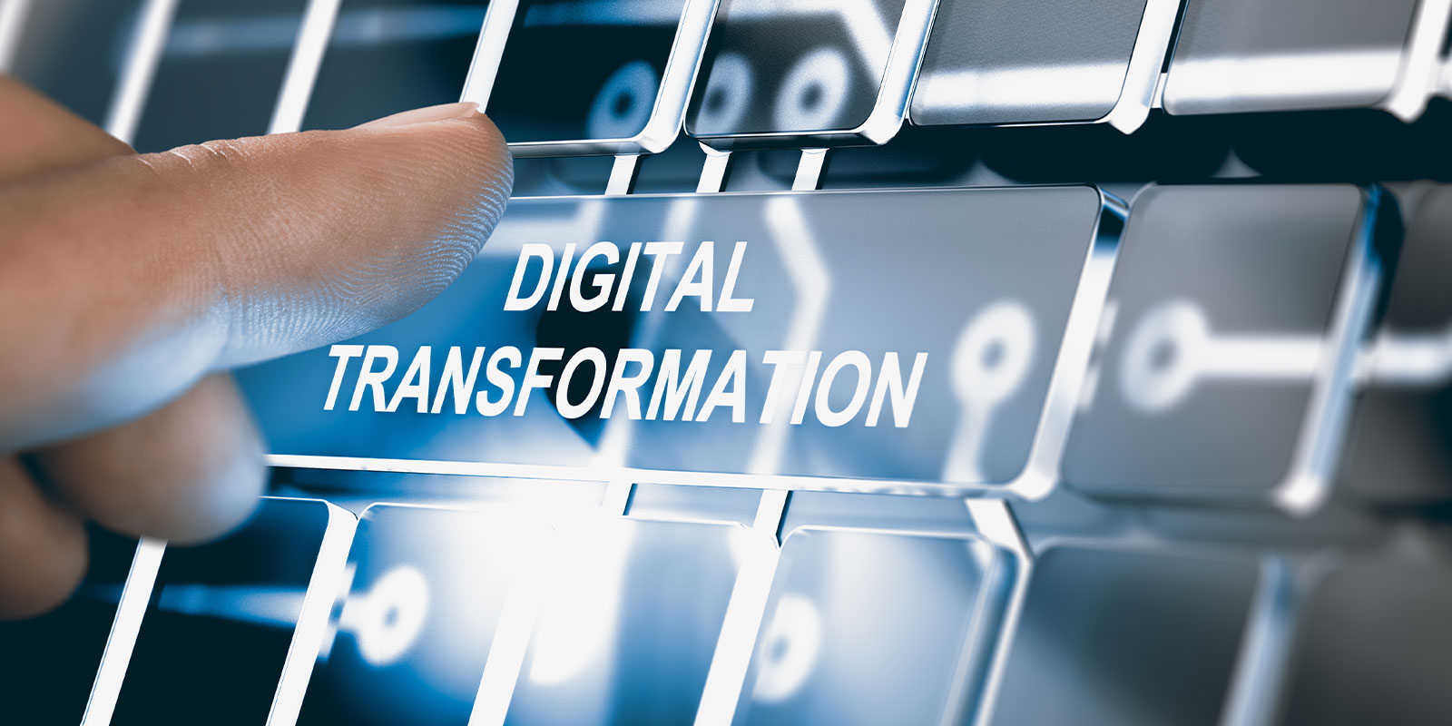 digital transformation on a key board