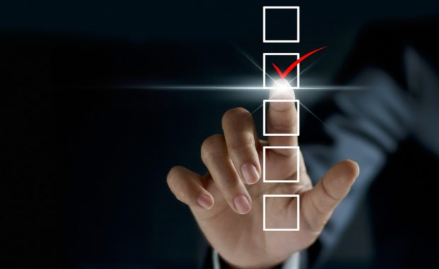 Checklist concept. M&A integration generally requires the creation of new policies and procedures