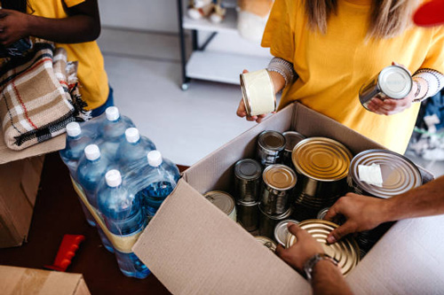 a community food drive accepting canned goods