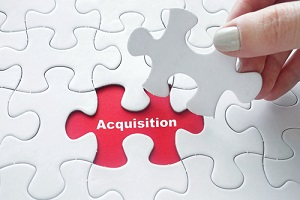 jigsaw puzzle piece with word acquisition