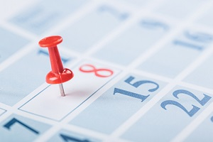 pin pointed on calendar appointment during telehealth
