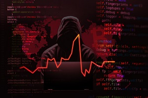 hacker attacking computer cybersecurity coding