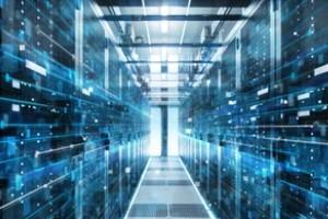 server room data flow concept