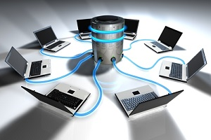 systems connected with central server software