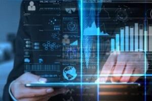 businessman analyzing the data