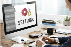 user trying the settings of software