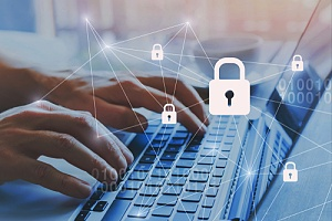a cybersecurity professional practicing good cyber habits