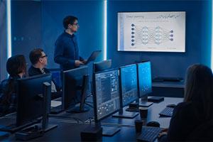 executive going over cybersecurity awareness